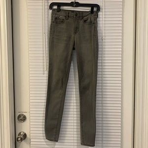 Aeropostale Size 0 Gray High Waisted Jegging Jeans